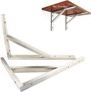Ondersteuning Heavy Duty drijvende beugels roestvrij staal - 1 paar plank ondersteuning hoekbrace Joint - muurbeugels voor...
