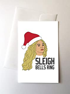 2 Pack - Sleigh Bells Ring Christmas Cards (4.25x5.5 Inch)