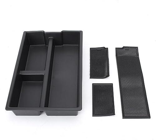 high quality Mallofusa Interior Car Center Console Armrest Storage Organizer Holder Tray online Box Compatible popular for Dodge RAM 1500 2009-2018 outlet online sale