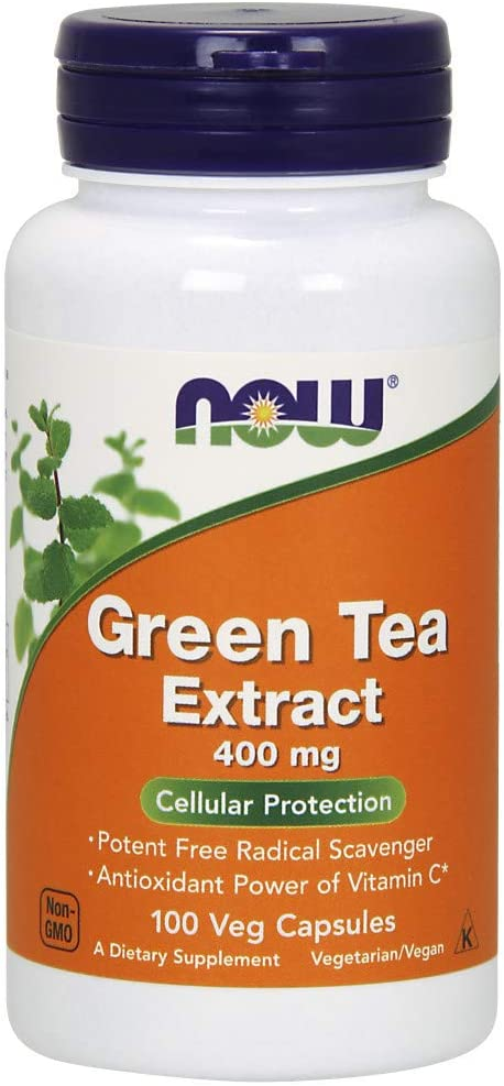 NOW Supplements Green Tea 55% OFF Extract 400 Bargain Vitamin mg C Cellul with
