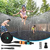 AceLife Trampolin Sprinkler Trampolin Spray Wasserpark Spaß Sommer Outdoor Wasserspiel Trampolin Zubehör, zum Anbringen am Trampolin Sicherheitsnetz Gehäuse(12M)