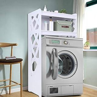 Mueble de baño para Lavadora a Prueba de Humedad Estantería de Almacenamiento para Inodoro con 2 Estantes 120 x 63 x 40 cm