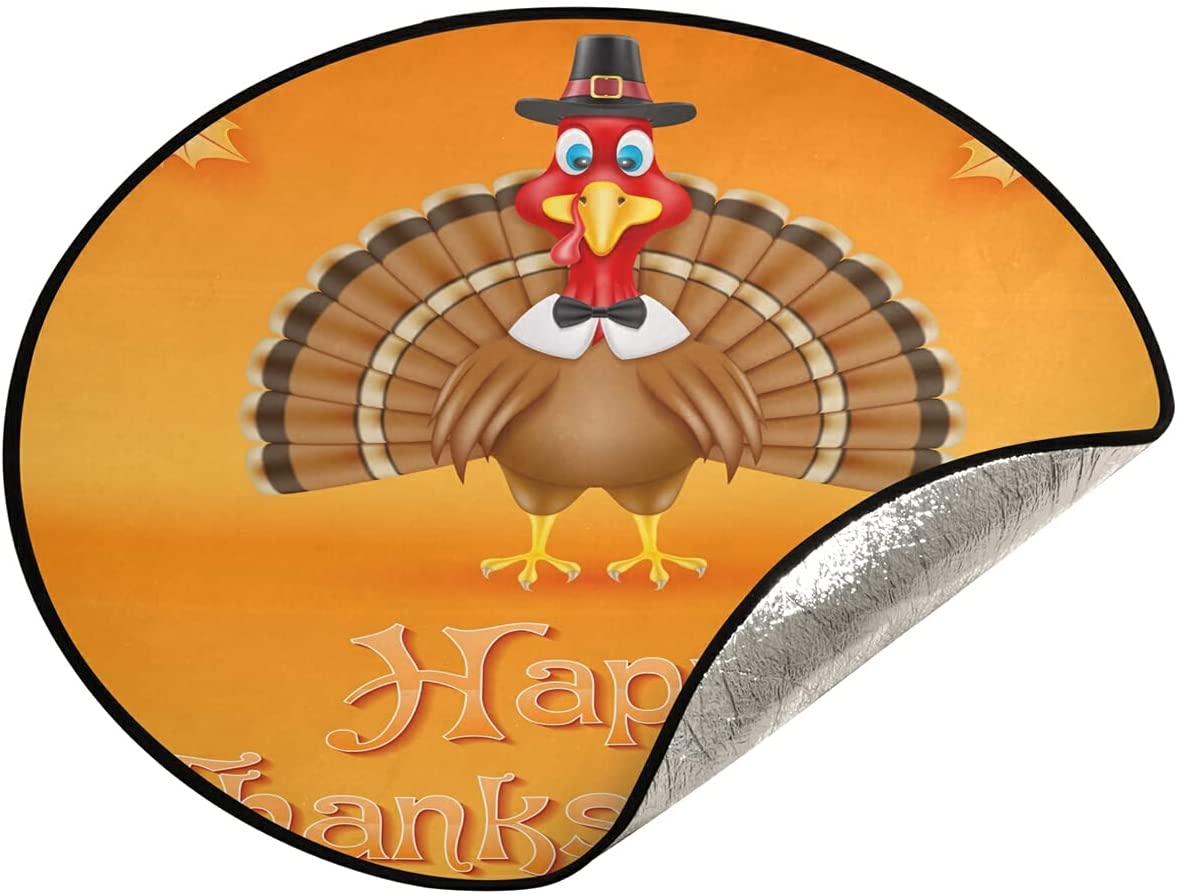 xigua specialty shop Be super welcome Thanksgiving Turkey Christmas Tree Waterproof Stand Pad Xm