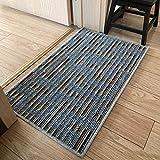 XiXiBoom Durable Interior Felpudo Non Slip Resiste La Suciedad Prueba De Agua Felpudos,Limpieza Fácil Lavable Bajo-Perfil Entrada Felpudos Alfombra para Casa-A 70x90cm(28x35inch)