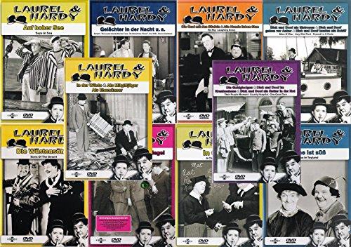 Laurel & Hardy - Collection 10 | In der Wüste | Hinter Schloß und Riegel | In Oxford | Gelächter in der Nacht | Rache süß | Auf hoher See | Als Matrosen u.a [10er DVD-Set]