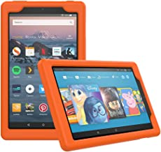 MoKo Case for All-New Amazon Fire HD 8 Tablet (7th/8th Generation, 2017/2018 Release) - [Honey Comb Series] Light Weight Shock Proof Soft Silicone Back Cover [Kids Friendly] for Fire HD 8, Orange