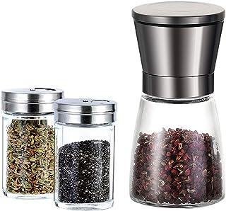 Seasoning Tank Grinder Seasoning Box Condiment Cruet Bottle Portable Stainless Steel Kitchen Condiment Dispenser Organizer...