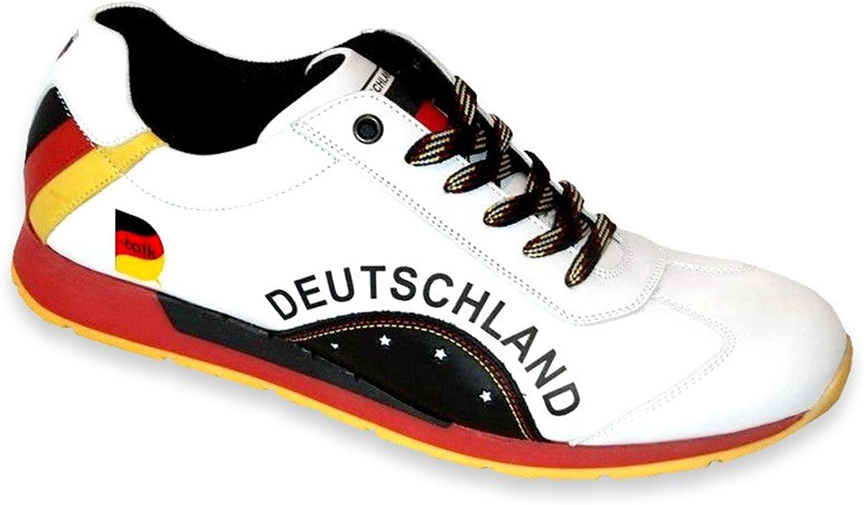 Deutschland Fan Turnschuhe Herren Weltmeister Weltmeister Sport Schuh Leder Turnschuhe Turnschuh  hohes Ansehen