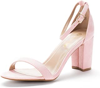 cdc8561a0c16 Amazon.com  Pink - Heeled Sandals   Sandals  Clothing