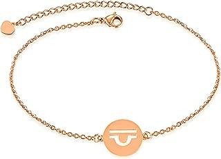 Women Stainless Steel Bracelet Bangle Bracelet 12 Constellation Bracelet