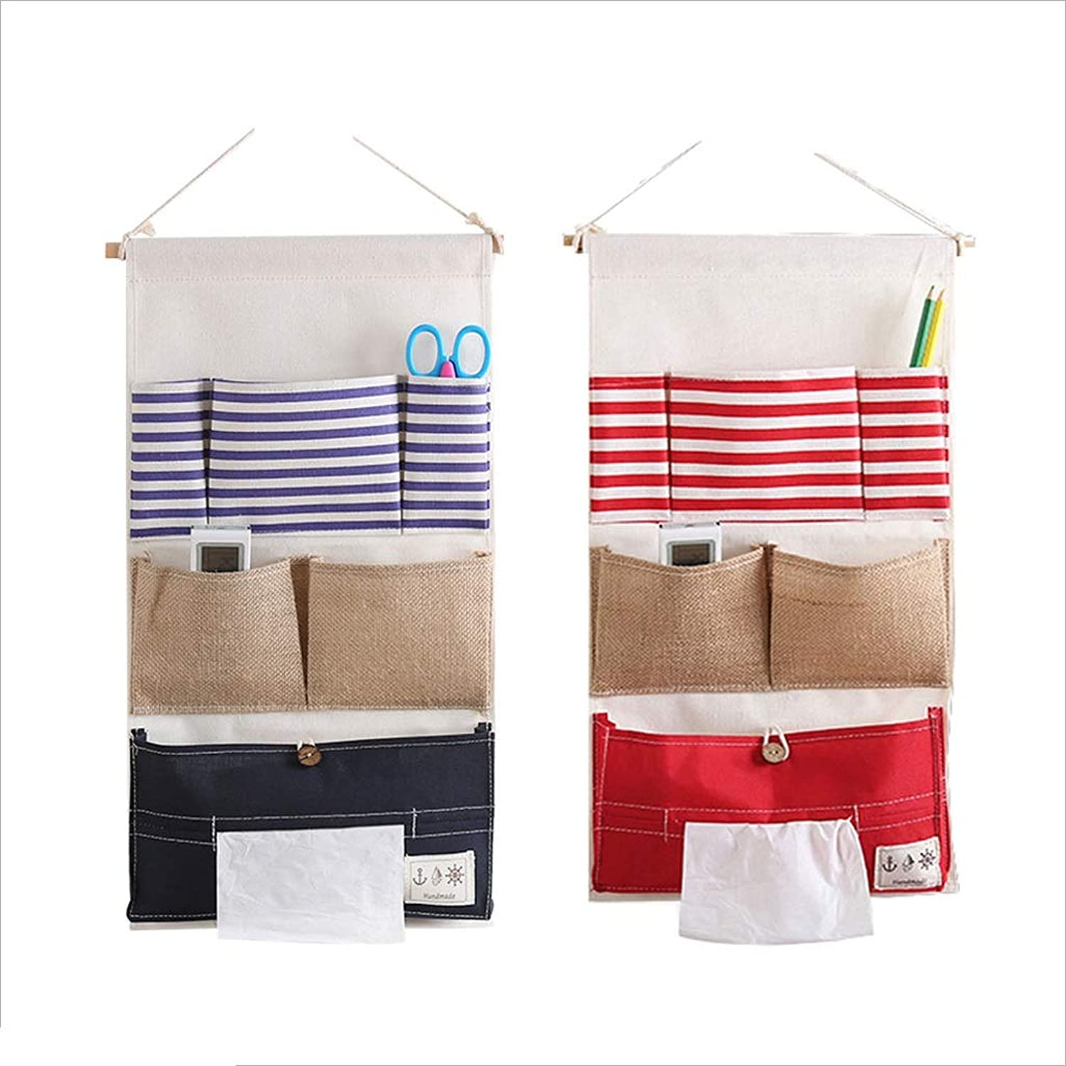 Storage Bag, 2 Wall-mounted Storage Bags With 6 Pockets