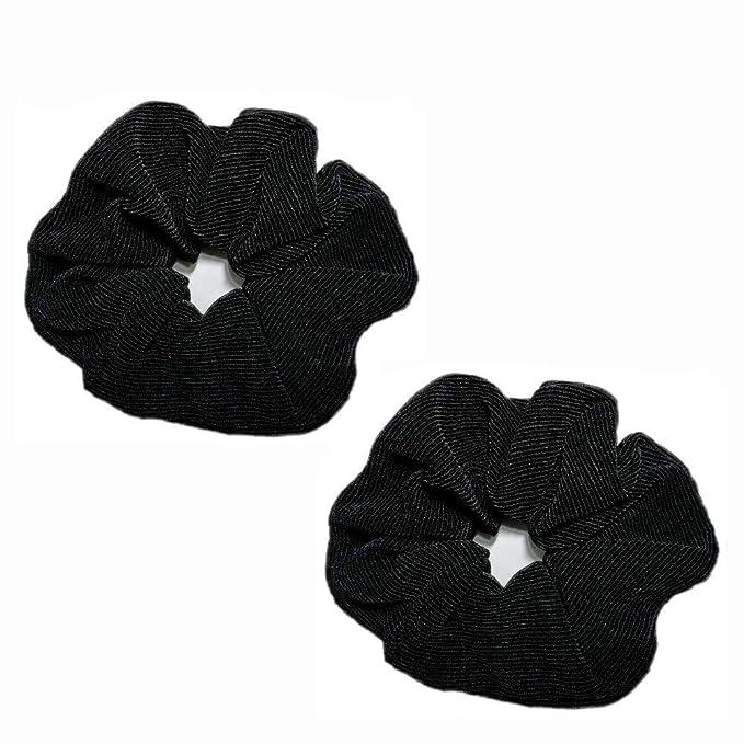Extra large navy satin Scrunchies Navy blue satin scrunchies Gaint satin scrunchies hair accessories