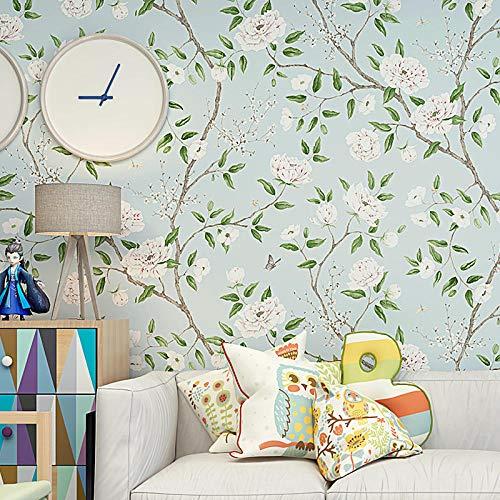 Papel tapiz 3D Moda moderna Pastoral Árbol floral Rollos de papel de pared no tejido Sala de estar TV Sofá Dormitorio Decoración del hogar Revestimiento de paredes