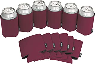 Koozie Can Cooler Blank Foam Sleeve Bottle Holder - authentic coozies insulators Great for DIY Projects for Wedding, Bachelorette Party, Birthdays - Pack of 12 (Maroon, 12)