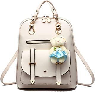 BAG WIZARD Women Small Backpack with 9 Pockets Girls Cute Tiny Purses for Travel Everyday Bag Pack