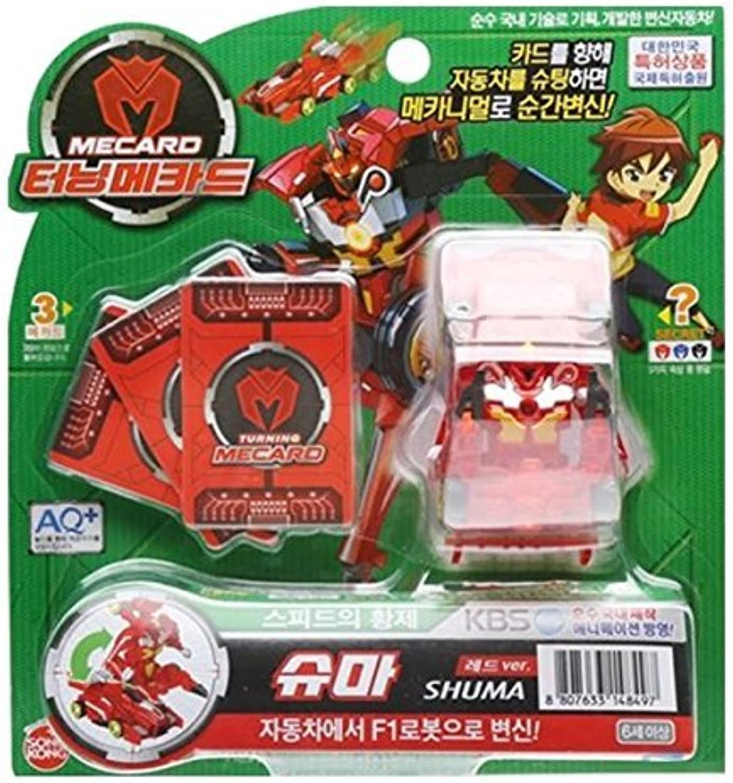 Turning MECARD SHUMA Red  Korean Made TV Kids Animation Toy