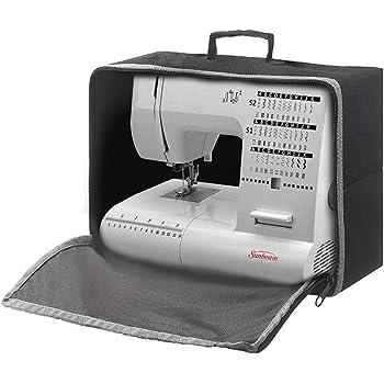 Funda para máquina de coser y funda de transporte, cubierta antipolvo, plegable y compacta, se adapta a todas las máquinas de coser estándar Brother Singer HZC1582 ...