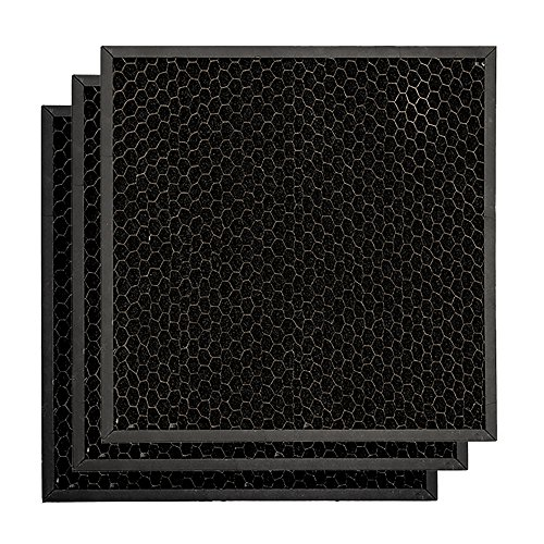 BlueDri Air Scrubber Active Carbon Filters (3-Pack) Odor Removal for Air Purifiers, Negative Air Machine, Water Damage Restoration Equipment, Construction Debris