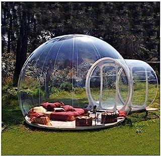 L&WB Hus uppblåsbart bubbeltält, transparent familj camping luftkupol tält med gratis CE/UL fläkt och reparationssats