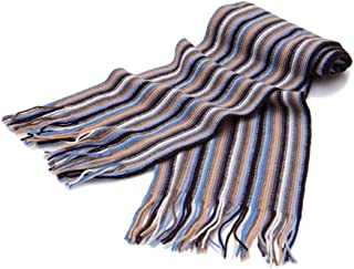 Mens Striped Cashmere Scarf