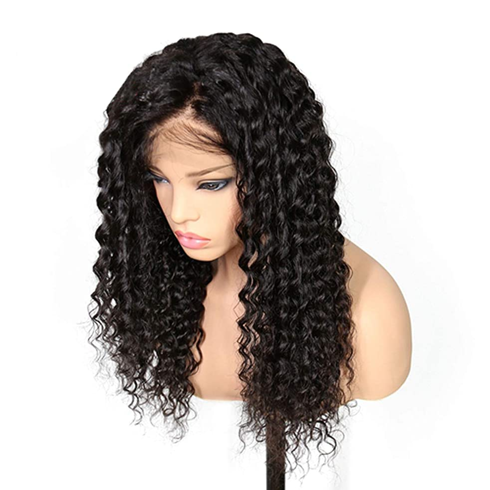 Peony red Lace Front Human Hair Wigs For Black Women Pre Plucked Deep Wave Curly Brazilian Remy Hair Wigs With Baby Hair,Natural Color,26inches
