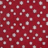 Weihnachtsstoff Jacquard Schneeflocke –
