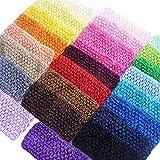 YYCRAFT 29 Pcs 2.75' Wide Elastic Crochet Headbands for Newborn Infant Toddler Baby Girls Hair Bands Accessories