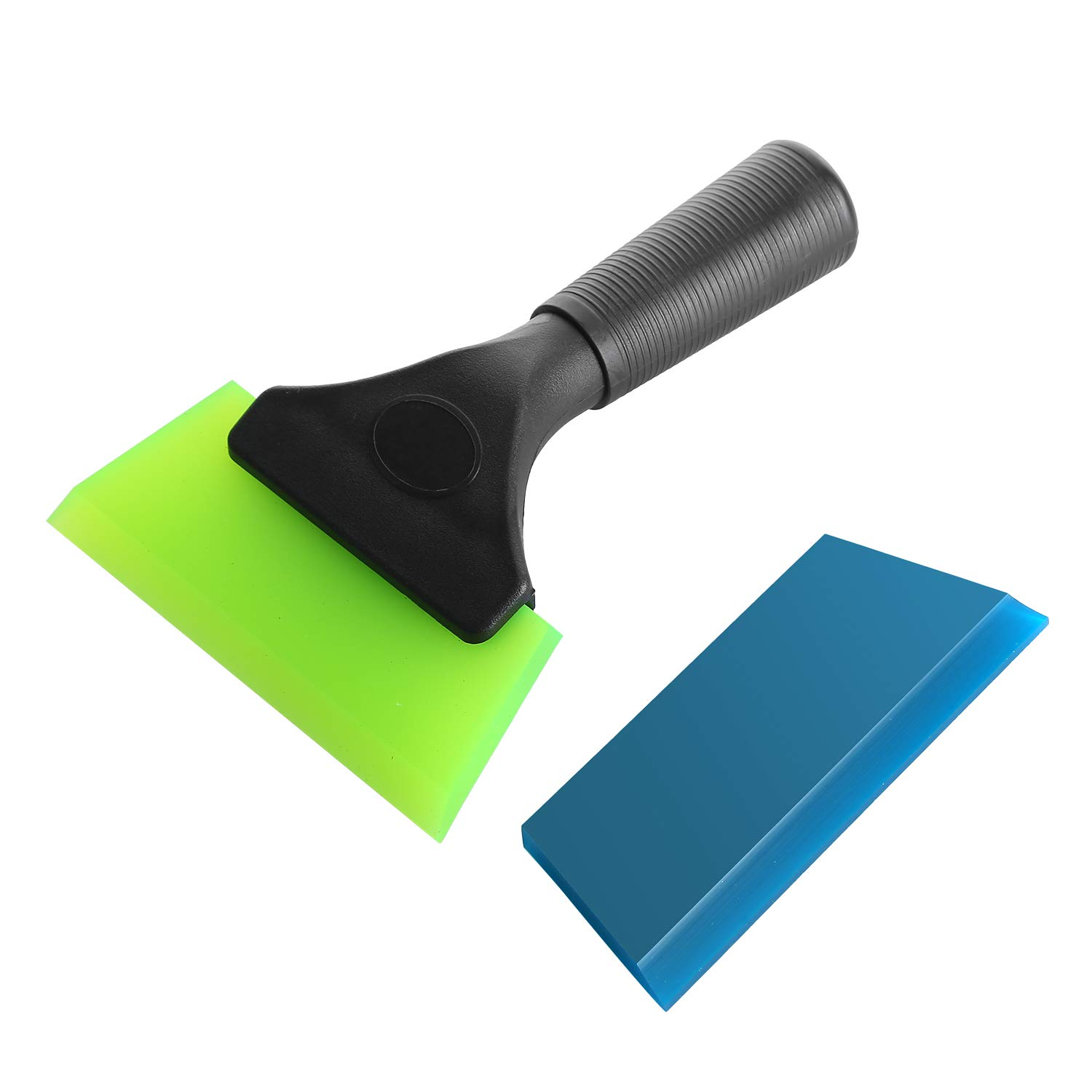 Household Clean GUGUGI CARTINTS Handy Rubber Squeegee Shower Water Blade Window Wiper Vinyl Wrap Squeegee with Non-Slip Handle for Auto Vinyl Wrap