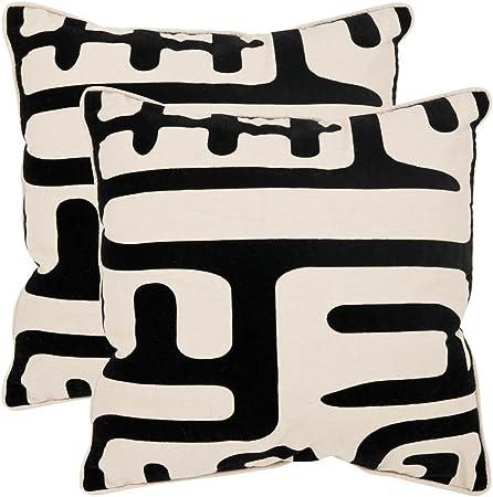 Amazon Com Safavieh Pillows Collection Maize Decorative Pillow 20 Inch Black Set Of 2 Home Kitchen