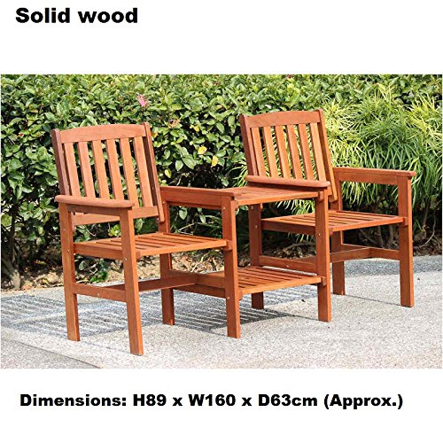 New Solid Wood 2 seat People Jakarta Wooden Companion Set Email