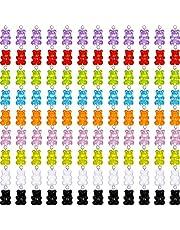 دببة من الراتينج الملون الملون دببة المعلقات راتنج سلاسل المفاتيح لدب لوازم القلادات المنزلية (54)