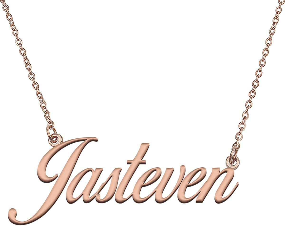 Austin Mall GR35Z9 Custom Letter Name Fort Worth Mall Necklace in Pendant Dainty Jewelry Gol