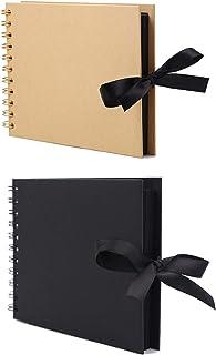Scrapbook Photo Albums,Photo Album Scrapbook,2 Pack 30 Pages Scrapbook Album Photo Album Memory Book Photo Album Book A5 C...