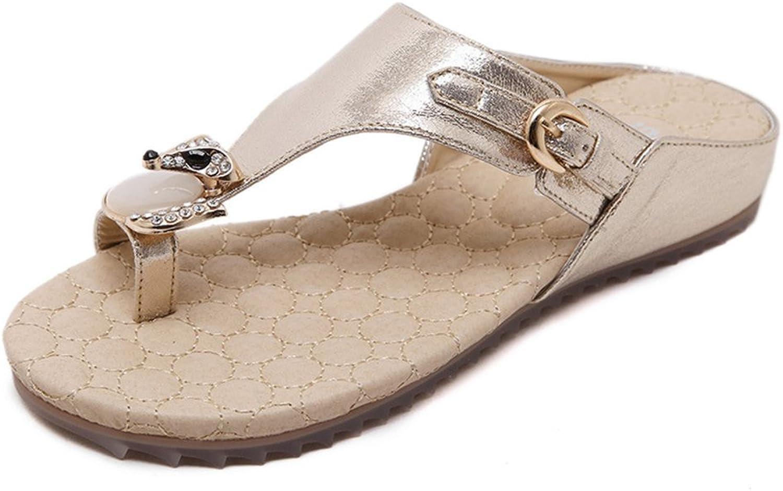 SUNNY Store 2018 New Women Girls Flips Flops Sandals Wedges Rhinestone Sandals Slips
