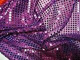 Pailletten Stoff dunkel Flieder lila Meterware