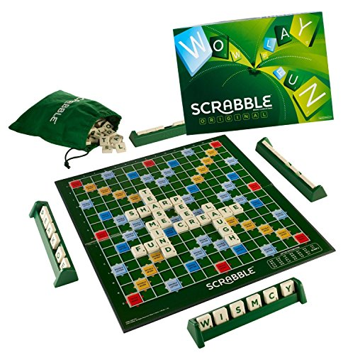 Mattel 51263 - Scrabble Original, Brettspiel, englische Version