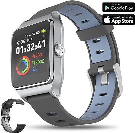 AIWEI TECH GPS Running Watch with Heart Rate & Sleep Monitor,17 Sports Mode,Pedometer Smart Watch for Kids Men Women (Color Screen,5ATM Waterproof)