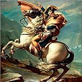 Poster 50 x 50 cm: Napoleon Bonaparte zu Pferde,