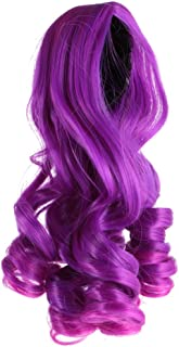 MagiDeal Doll Purple Full Head Middle Parting Wavy Hair Wig Hairpiece for 1/3 BJD SD DOD DOC DIY Change ACCS Purple