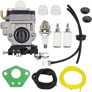 Hayskill 300486 Carburetor w Fuel Filter Line Repower Tune-Up Kit for Earthquake E43 E43CE E43WC Auger MC43 MC43E MC43CE MC43RCE MC43ECE Tiller MD43 WE43 WE43E WE43CE Edger