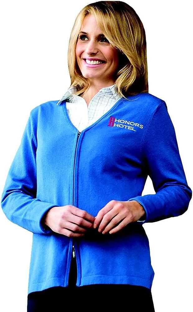 Averill's Sharper Uniforms Women's Ladies Hotel Full Zip V-Neck Cardigan Sweater