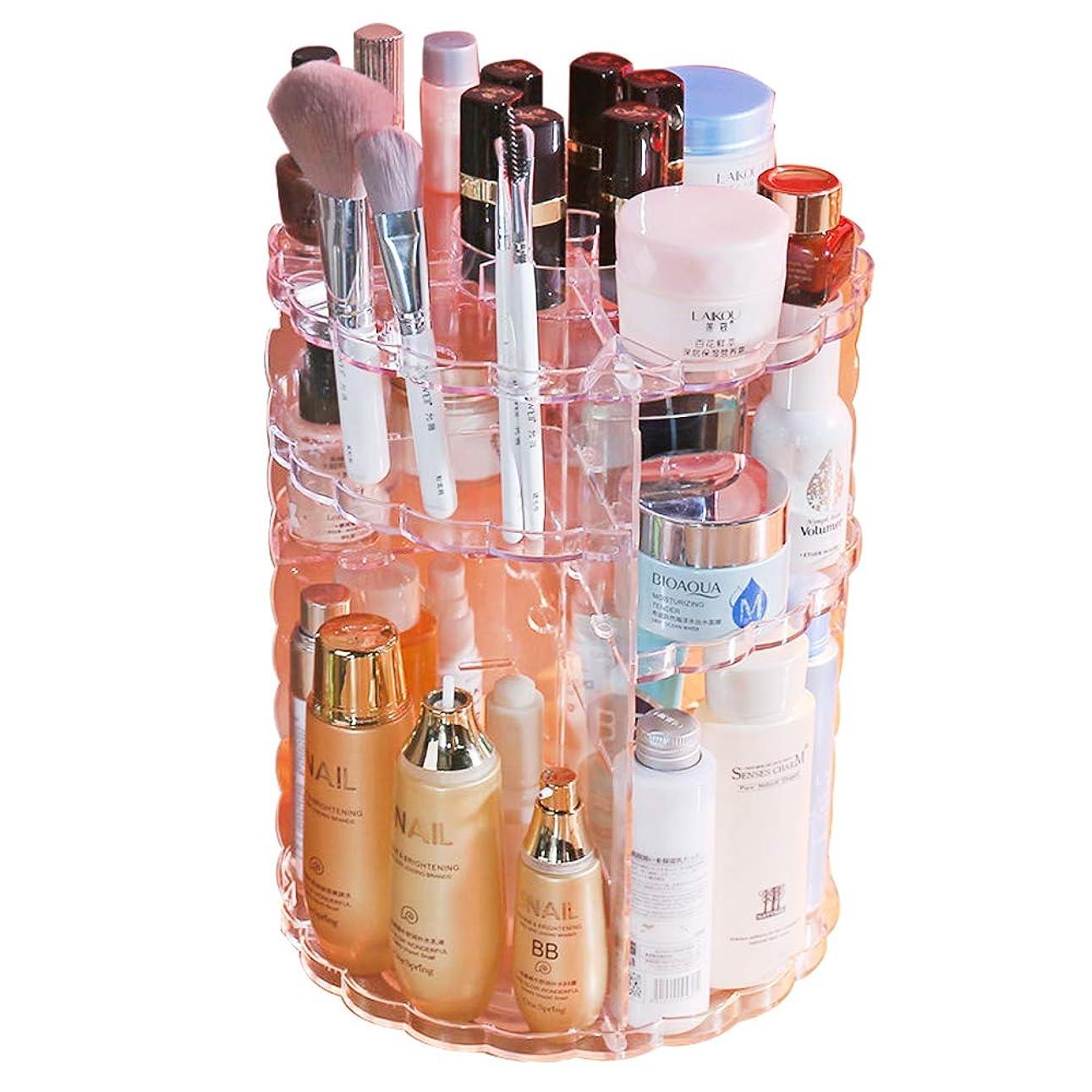 植生画家腐敗したOKLIFE コスメボックス 化粧品 コスメ 収納 360度回転式 透明アクリル メイクボックス