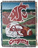 The Northwest Company Washington State Cougars 'Home Field Advantage' Woven Tapestry Throw Blanket, 48' x 60' , Red