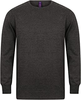 Henbury Mens Crew Neck 12 Gauge Fine Knit Jumper/Sweatshirt