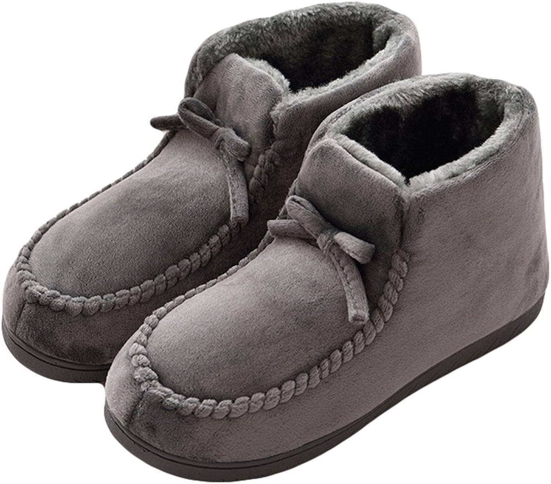 AGOWOO Mens Fuzzy Lining Indoor Outdoor Bootie Slippers