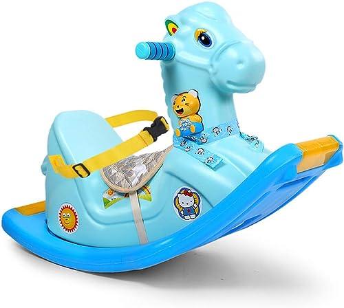 Cacyy Baby Schaukelpferd,Glänzende Pferd Spielzeug Baby Schaukel 1-6 Jahr Alt Reiten Auto Kinder Schaukel Pferd Spielzeug Baby Zimmer P gogisches Spielzeug