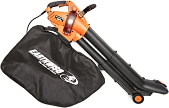EarthWise 12-Amp Corded 3-in-1 Wheeled Blower, Vacuum and Mulcher - Orange