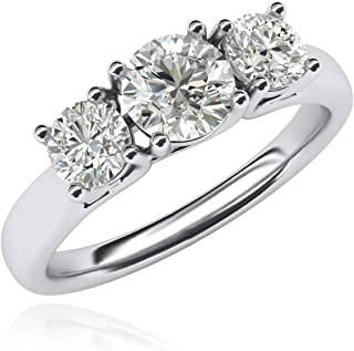 Best 3 stone simulated diamond ring Reviews