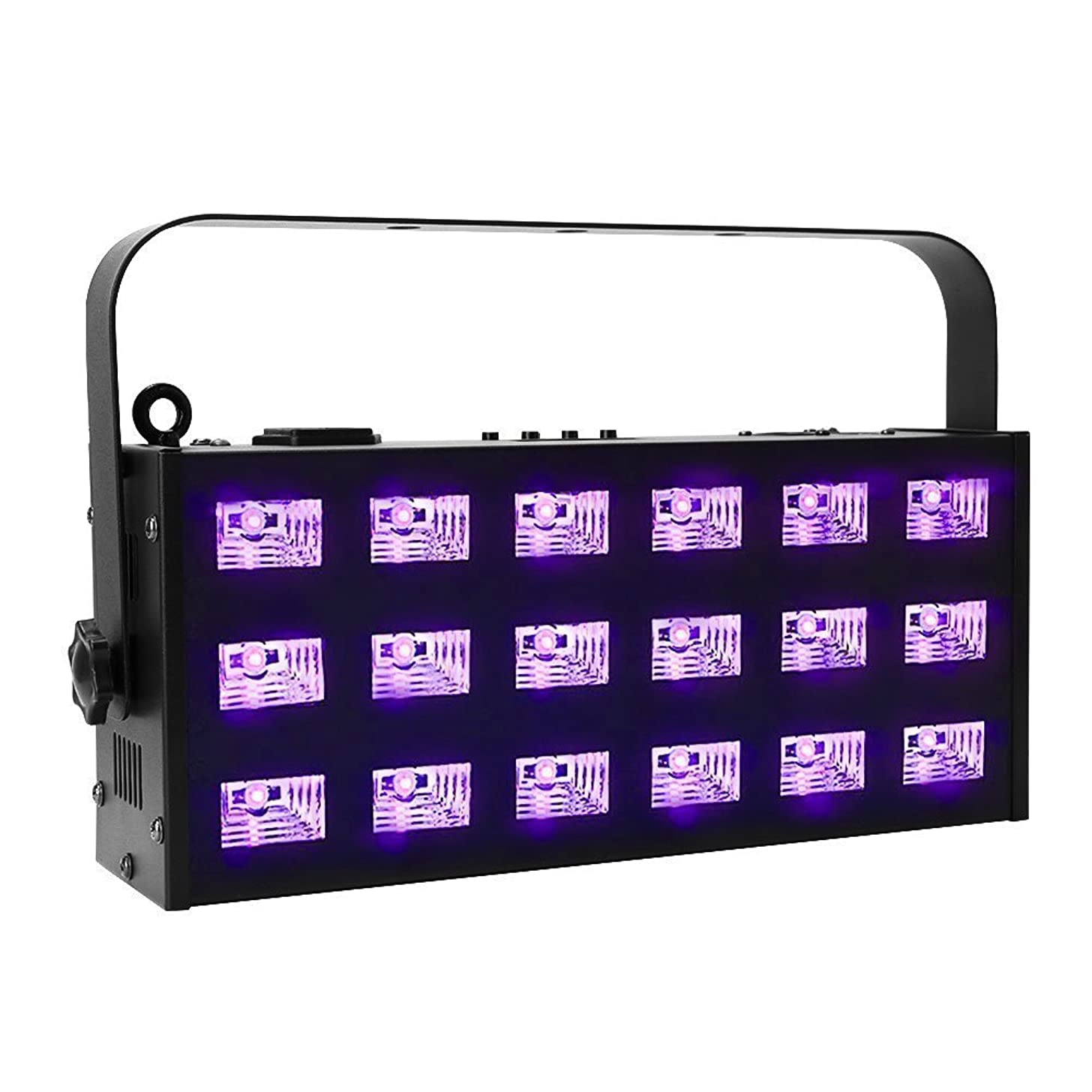 UV Black Lights, OPPSK 54W Powerful 6x3 UV LED 395-405nm 7CH DMX Control Auto Play Strobe Effects for Stage Lighting, Birthday, Wedding, UV Body Paint &Poster, 25x25ft Glow in The Dark Party Supplies
