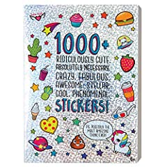 40-Page sticker book Fabulous collection of 1000+ stickers Decorate greeting cards, Notebooks, planners and more with this book of over 1000 stickers Great for teachers looking to add to papers, or give out as prizes Everything you have ever wanted f...
